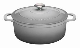 Chasseur Rnd French Oven 28cm Grey Celest