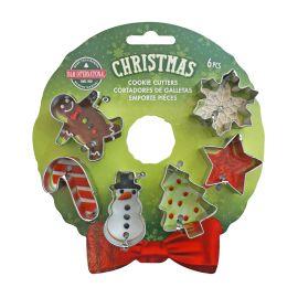 Xmas Mini Wreath Cookie Cutter Set 6
