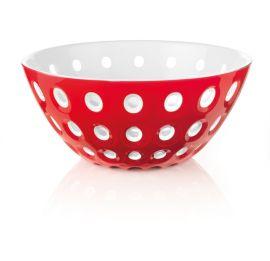 Guzzini Bowl 25cm Red/wht/transparent