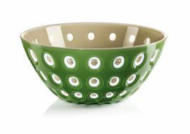 Guzzini Bowl 25cm Moss Green/white/sand
