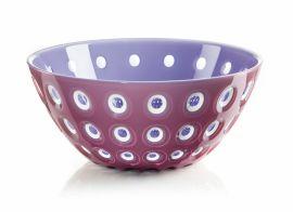 Guzzini Bowl 25cm Mauve/wht/ Lilac