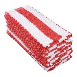 Towelling Swab Red / White
