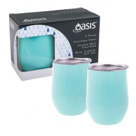 Oasis Dwall 2pce Wine Tumbler Spearmint