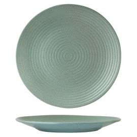 Coupe Plate Ribbed 310mm Matt Green