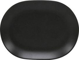 Aura Oval Platter 157mm Matt Blk