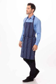 Blue / White Stripe Bib Apron