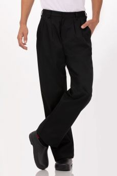 Black Fitted Chef Pant 36
