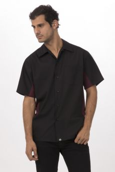 Blk/merlot Universal Shirt Small