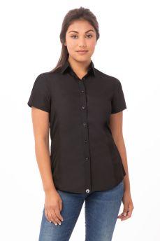 Ladies Blk Coolvent Univ Shirt Sml