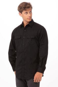 Mens Black Shirt 2 Pock Sml