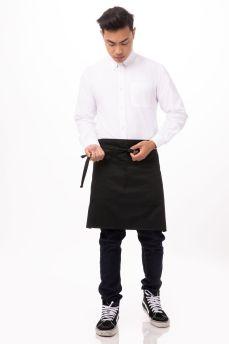 Black Half Apron W Pocket