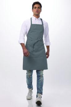Grey Adj Butcher Bib Apron