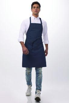 Navy Butcher Bib Apron