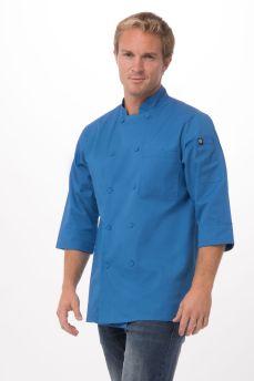 Blue 3/4 Sleeve Chef Jacket Xl