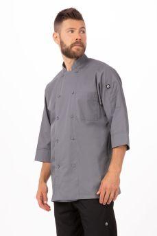 Grey 3/4 Slv Chef Coat 2xL