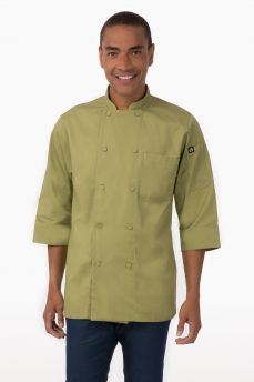 Chef Coat Lime 3/4 Sleeve Sml