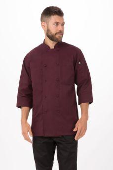 Merlot Chef Jacket 3/4 Sleeve