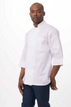 Chef Coat Wht 3/4 Slv Med