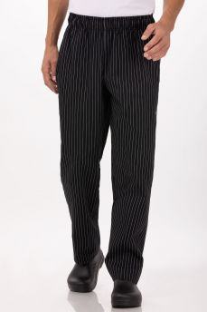 Pinstripe Designer Chef Pants - Lge