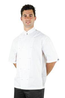 Procool Jacket Short Sleeve White Large