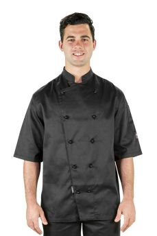 Prochef Jacket Blk Small S/s