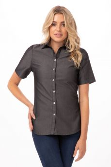 Detroit Womens Blk Denim Shirt