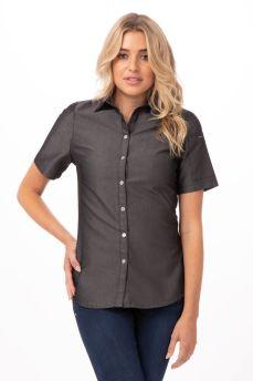 Detroit Womens Blk Denim Shirt x small