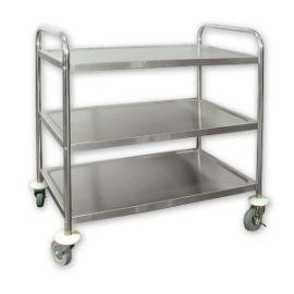 Trolley S/s 810x455x855 3 shelf