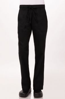 Womens Chef Pant Blk Lge