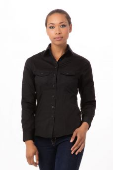 Womens Blk 2 Pocket Shirt