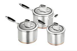 Scanpan Coppernox 3pce Saucepan Set