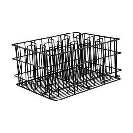 Glass Basket 17x14vc Blk 30comp.