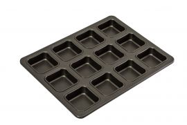 Bakemaster 12cup Square Brownie Pan
