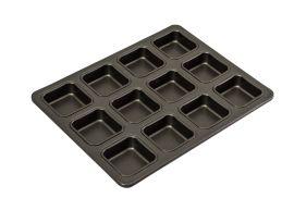 Bakemaster 12cup Square Brownie Pan