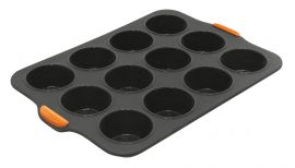Bakemaster Silicone 12 Cup Muffin Tray