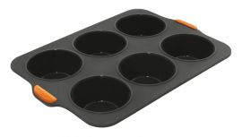 Bakemaster Silicone 6 Cup Jumbo Muffin