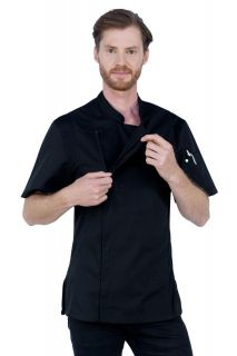 Alex Zipper Jacket Black Lge