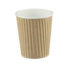 Cup Ripple Brown 8oz (1000)