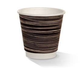 PAC 8oz Cup Double Wall (25) L = HL1216B - HL1216W