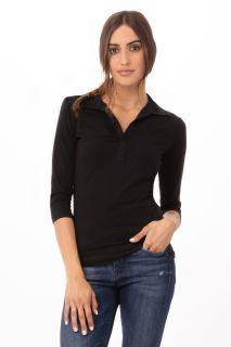 Definity Womens Blk Polo Shirt Lge
