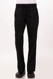 Chef Pants Womens Blk Med